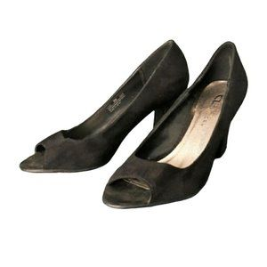 CHINESE LAUNDRY classy suede peeptoe pumps